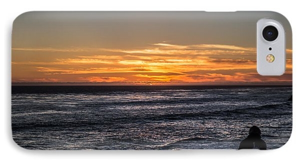 IPhone Case featuring the photograph The Sun Says Goodbye by Lora Lee Chapman