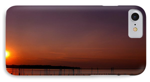 The Sun Sets Over The Water IPhone Case by Clayton Bruster