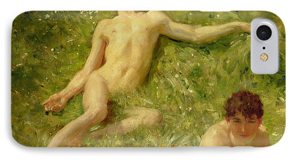 The Sunbathers Phone Case by Henry Scott Tuke