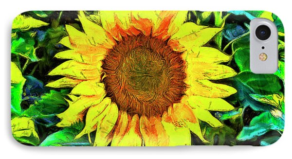 The Sunflower IPhone Case by Mark Kiver