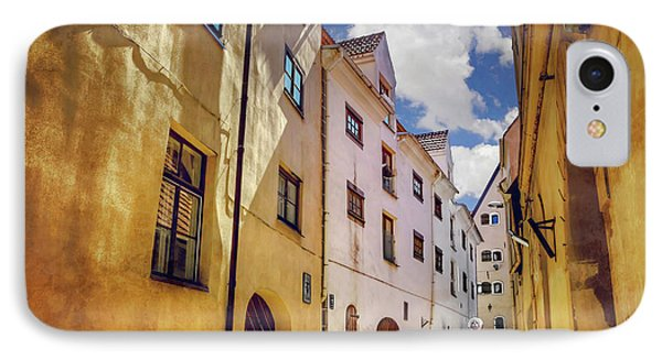 The Sunny Streets Of Old Riga  IPhone Case by Carol Japp