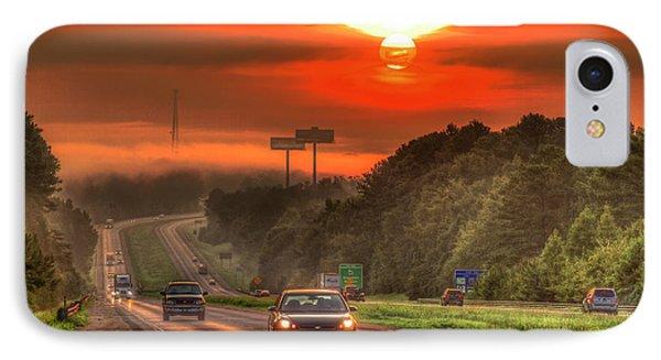 The Sunrise Commute Georgia Interstate 20 Art IPhone Case