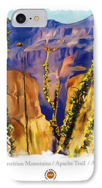 The Superstition Mtns. Az IPhone Case by Bob Salo