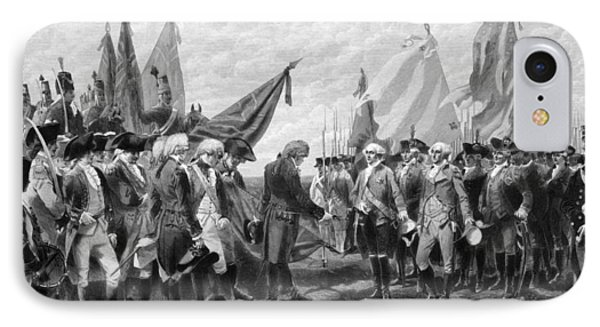 The Surrender Of Cornwallis At Yorktown IPhone Case by War Is Hell Store