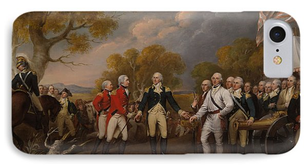 The Surrender Of General Burgoyne At Saratoga IPhone Case by Mountain Dreams