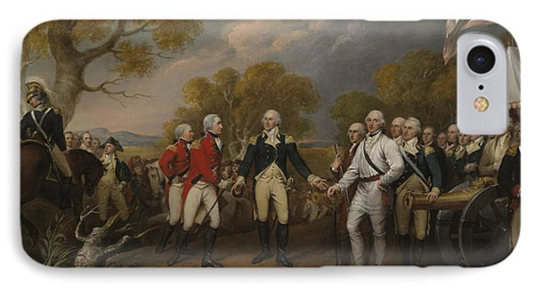 The Surrender Of General Burgoyne At Saratoga October 16 1777 IPhone Case by John Trumbull