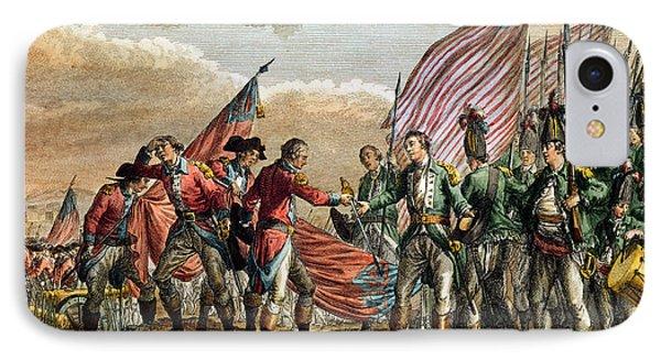 The Surrender Of General John Burgoyne At The Battle Of Saratoga IPhone Case
