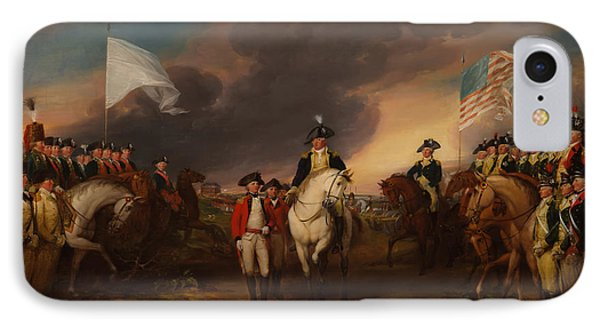The Surrender Of Lord Cornwallis At Yorktown IPhone Case by Mountain Dreams