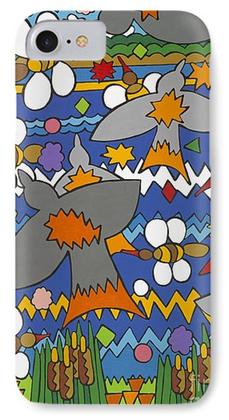 The Swallows IPhone Case by Rojax Art