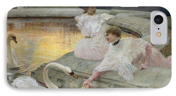 The Swans IPhone Case by Joseph Marius Avy