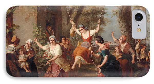 The Swing, 1848 IPhone Case by Francois Verheyden