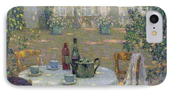 Garden iPhone 7 Case - The Table In The Sun In The Garden by Henri Le Sidaner