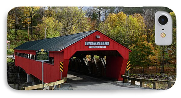 The Taftsville Covered Bridge IPhone Case by Mike Martin