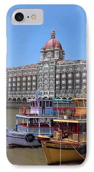 The Taj Palace Hotel And Boats, Mumbai IPhone Case