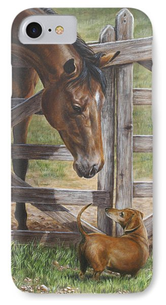 The Tall And Short Of It IPhone Case by Kim Lockman