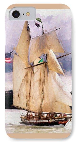 The Tall Ship The Lynx, Fine Art Print IPhone Case