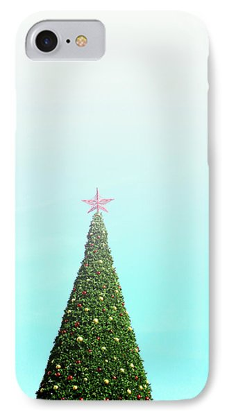 The Tallest Christmas Tee- Photograph By Linda Woods IPhone Case