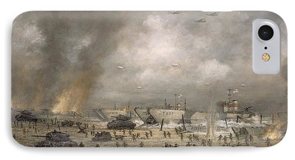 The Tanks Go In - Sword Beach  IPhone Case by Richard Willis