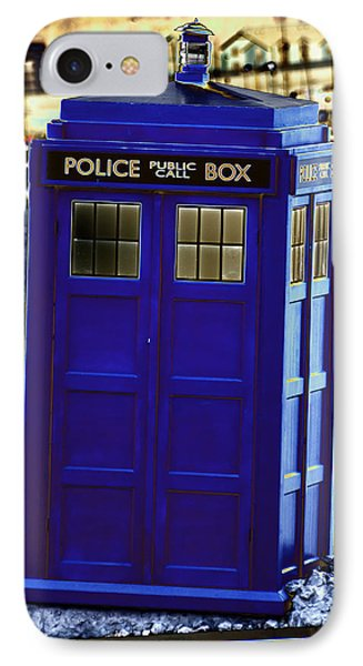The Tardis IPhone Case by Steve Purnell