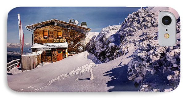 The Tavern On Untersberg Mountain Salzburg In Winter IPhone Case by Carol Japp