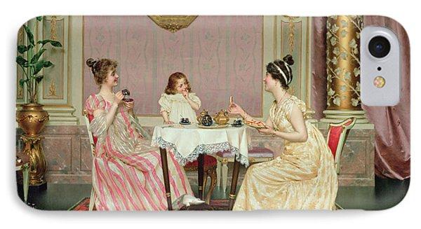 The Tea Party IPhone Case by Vittorio Reggianini