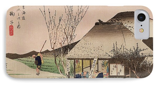 The Teahouse At Mariko IPhone Case by Hiroshige
