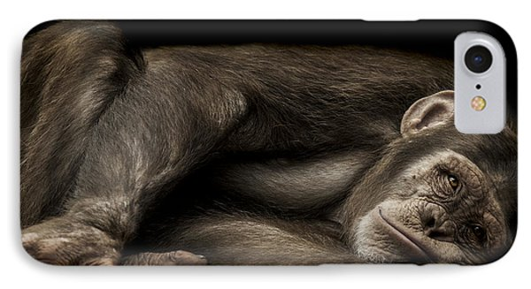 Chimpanzee iPhone 7 Case - The Teenager by Paul Neville