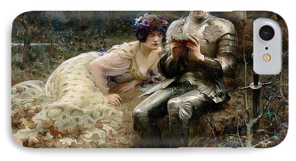 The Temptation Of Sir Percival IPhone Case by Arthur Hacker