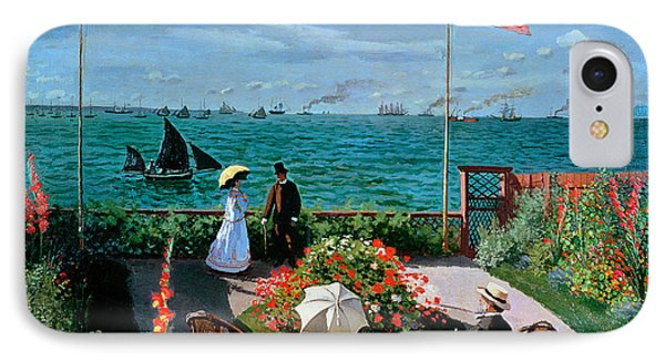 The Terrace At Sainte Adresse IPhone Case by Claude Monet