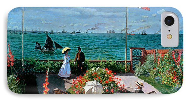The Terrace At Sainte Adresse Phone Case by Claude Monet