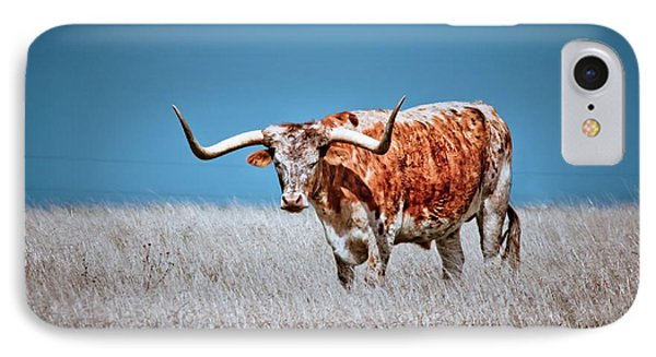 IPhone Case featuring the photograph The Texas Longhorn by Linda Unger