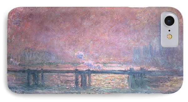 The Thames At Charing Cross Phone Case by Claude Monet