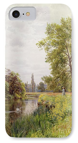 The Thames At Purley IPhone Case by William Bradley