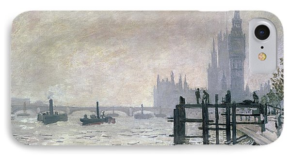 The Thames Below Westminster Phone Case by Claude Monet