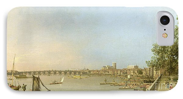 The Thames From The Terrace Of Somerset House IPhone Case by Giovanni Antonio Canaletto