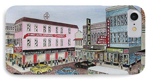 The Theater District Portsmouth Ohio 1948 IPhone Case by Frank Hunter