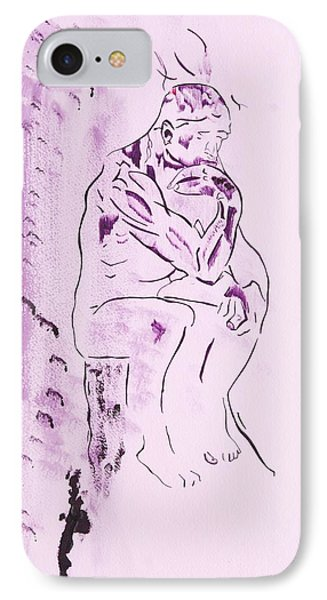 The Thinker IPhone Case by Contemporary Michael Angelo