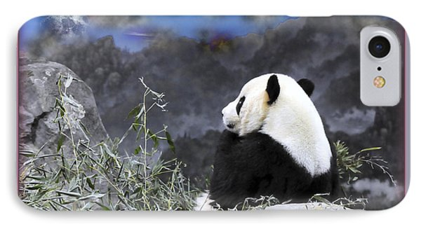 The Thinker Tai Shan In Repose Giant Panda  IPhone Case by Jonathan Whichard