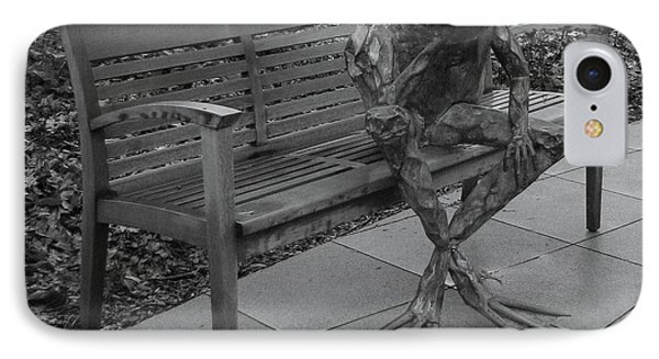 IPhone Case featuring the photograph The Thinking Frog by Donna Brown