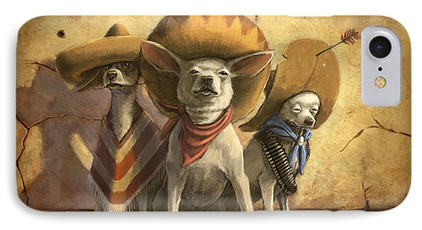 The Three Banditos Phone Case by Sean ODaniels