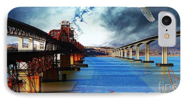 The Three Benicia-martinez Bridges . A Journey Through Time IPhone Case