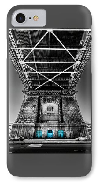 The Three Blue Doors IPhone Case by Marvin Spates