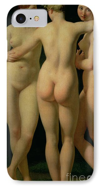 The Three Graces IPhone Case by Jean Baptiste Regnault