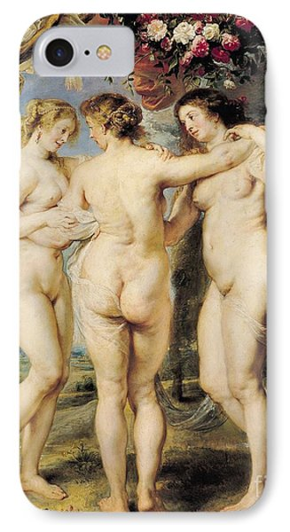 The Three Graces IPhone Case by Peter Paul Rubens