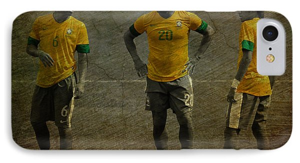 The Three Kings Marcelo Hulk Neymar Os Tres Reis  Phone Case by Lee Dos Santos