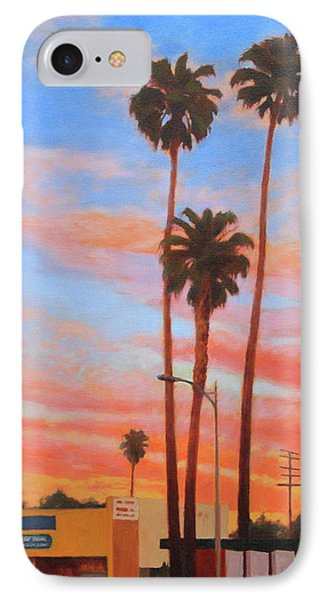 The Three Palms IPhone Case by Andrew Danielsen