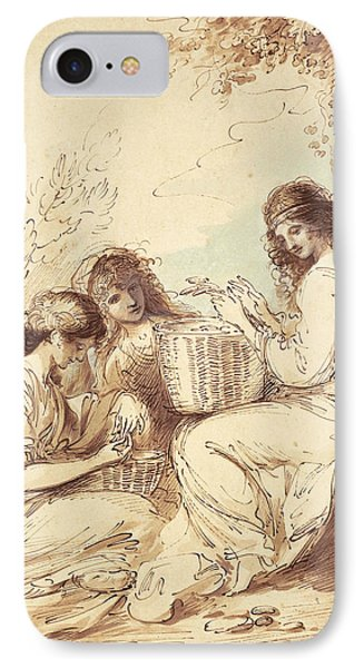 The Three Sisters  IPhone Case by Benjamin West
