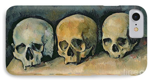 Still Life iPhone 7 Case - The Three Skulls by Paul Cezanne