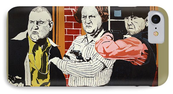 IPhone Case featuring the painting The Three Stooges by Thomas Blood
