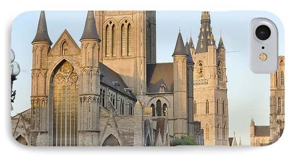 The Three Towers Of Gent IPhone Case by Marilyn Dunlap
